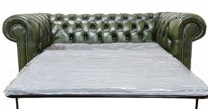 Chesterfield 2 Seater Sofa Bed Antique Green