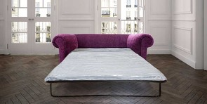 Chesterfield Hampton 2 Seater Settee Purple Aubergine Fabric Sofabed