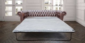 Chesterfield london 3 Seater Antique Brown Leather SofaBed Settee Offer