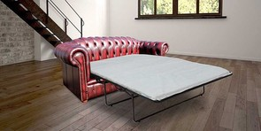 Chesterfield Royale 3 Seater Oxblood Leather SofaBed Offer