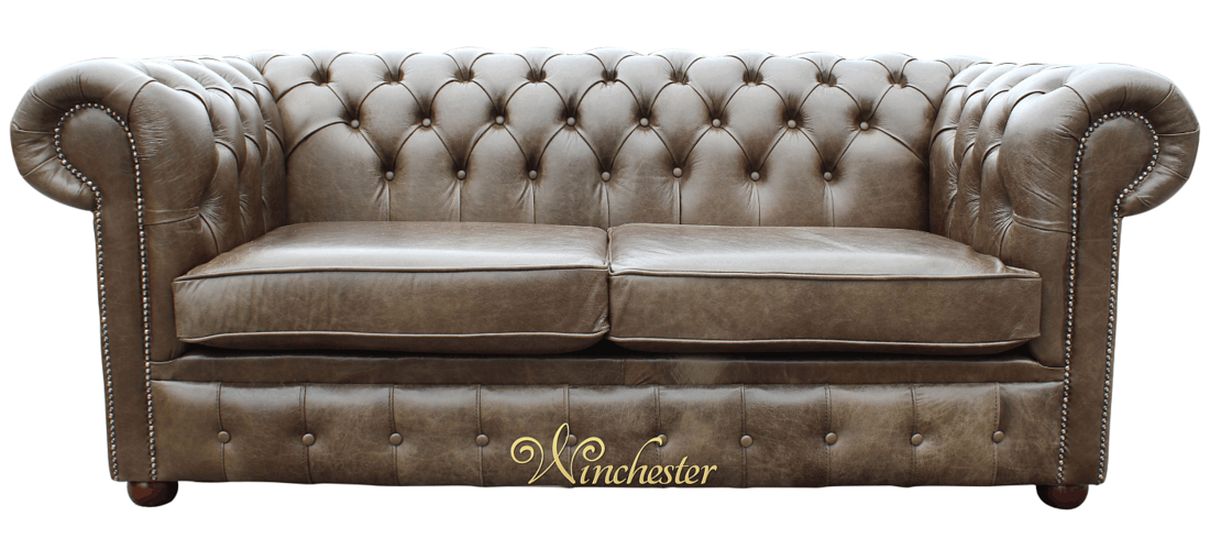 Chesterfield Sofa Old English Alga Leather Wc