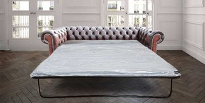 William Blake Chesterfield Suite 3 Seater Antique Rust Leather SofaBed Offer Brass Studs