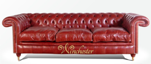 Chesterfield Burlington 3 Seater Leather Sofa UK Manufactured