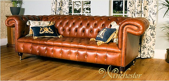 Chesterfield Chatsworth Leather Sofa UK Manufactured