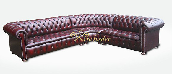 Chesterfield Emerson Corner Suite, Leather Furniture, Chesterfield Suites