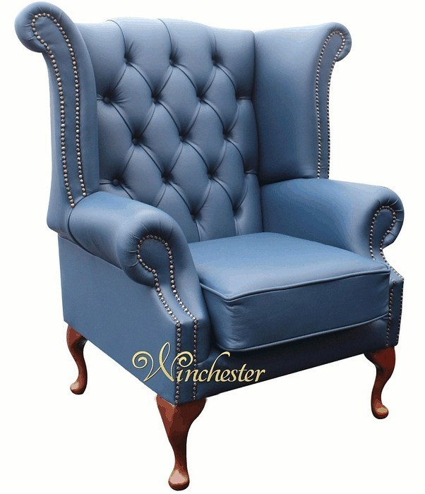 Chesterfield Queen Anne High Back Wing Chair Uk