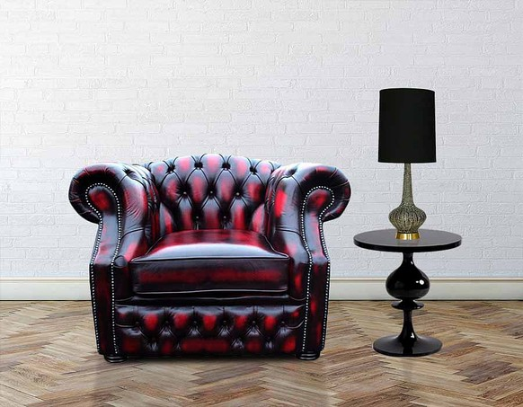 Chesterfield Sandringham ArmChair Antique Oxblood Leather