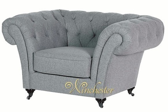 Grey Chesterfield Armchair