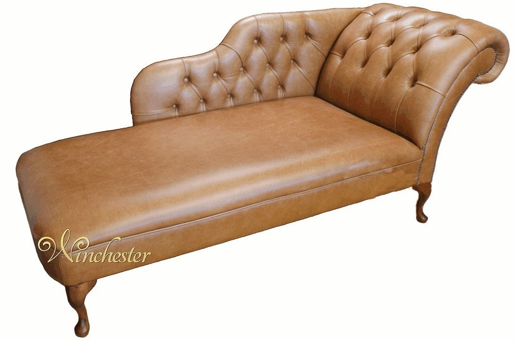 chesterfield leather chaise lounge day bed. Black Bedroom Furniture Sets. Home Design Ideas