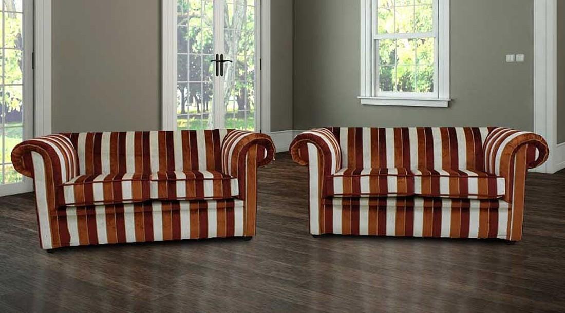 28e4b2e4fb03 Chesterfield 1930 S 2 Seater Sofa Settee Oscar Mango Velvet Fabric