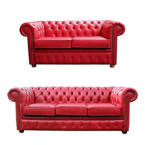 Red Leather Sofas 2 X Seater Harvey S Dark Red Leather Sofas
