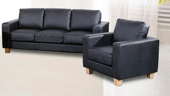 Chesterfield 3+1 Seater Sofa Faux Leather Available In Black, Brown Or Cream