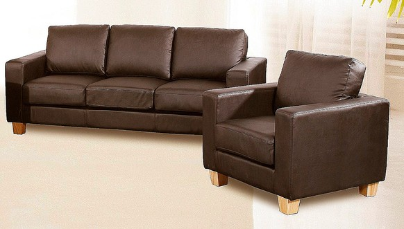 Chesterfield 3+1 Seater Sofa Faux Leather Available In Brown