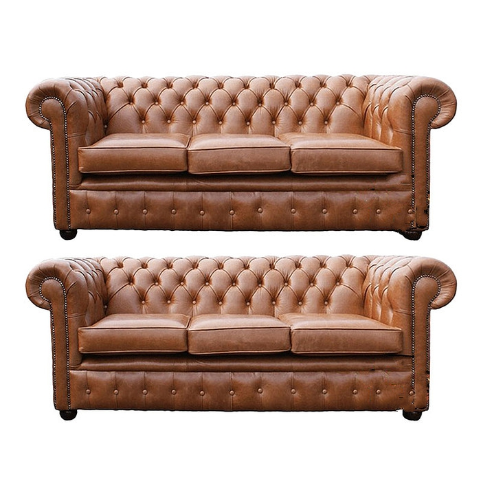 Chesterfield 3 Seater 3 Seater Sofa Old English Tan Leather Sofa Offer
