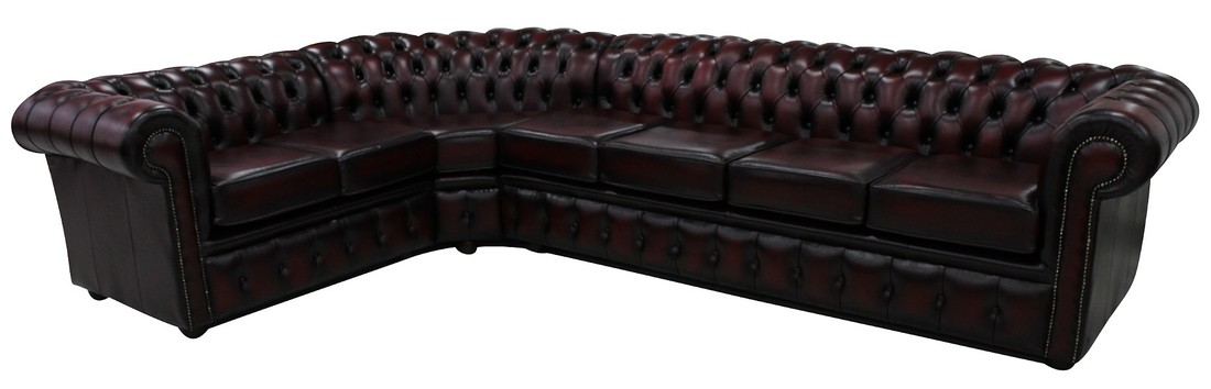 Chesterfield Corner Sofa 4 Seater + Corner + 2 Seater Antique ...