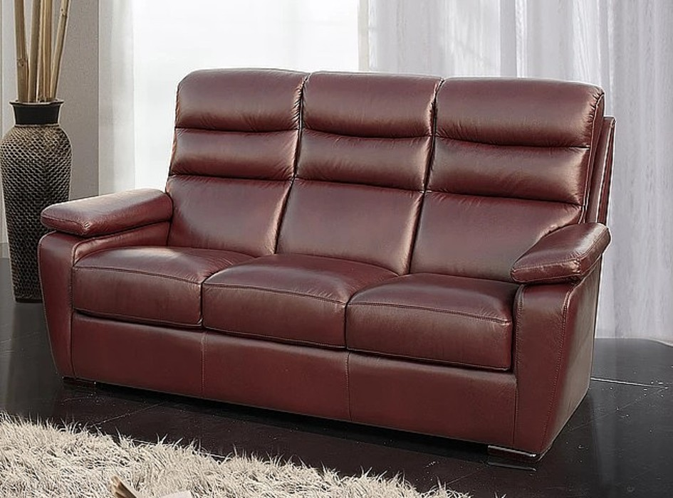 Amalfi 3 Seater Italian Leather Sofa Offer Wine