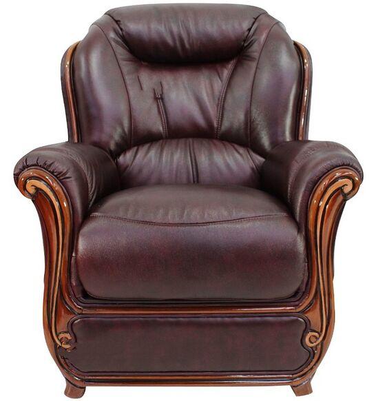 Real Leather Sofas Italian: Bari Armchair Sofa Genuine Italian Burgandy Leather Offer