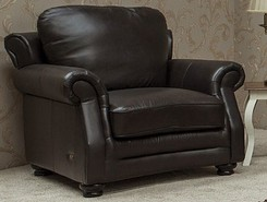 Belfry Leather Armchair Sofa Settee Chestnut Or Dark Brown
