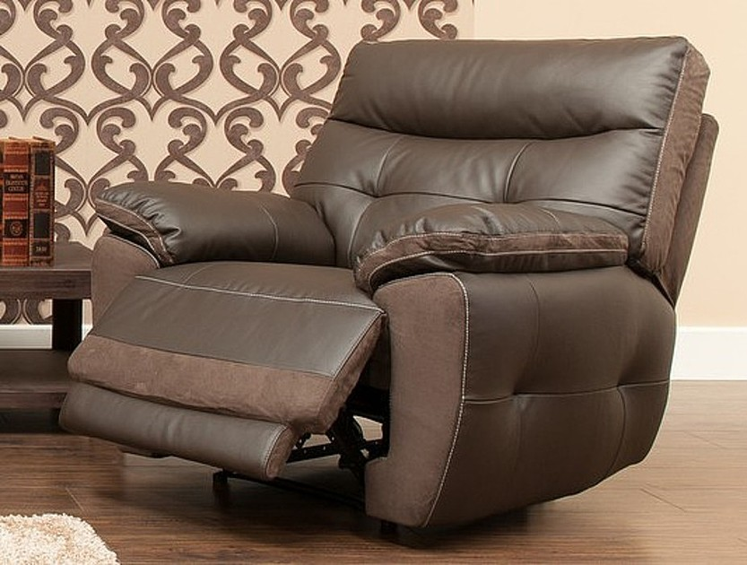 Bellini Reclining Armchair Leather And Fabric Sofa ...