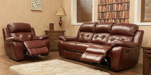 Bentley Reclining 3+2 Seater Leather Sofa Suite Available In Brandy, Tabak And Wine