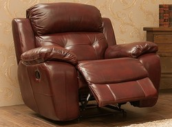 Bentley Reclining Armchair Leather Sofa Settee Available In Brandy, Tabak And Wine