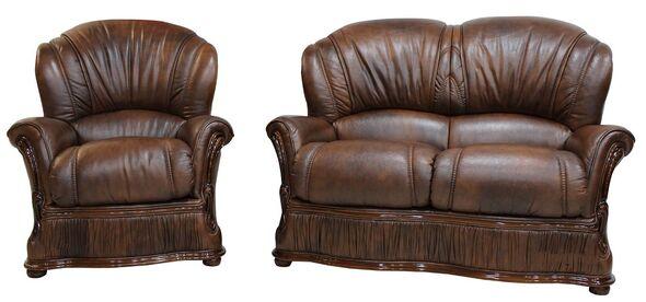 Real Italian leather sofa | Buy at Designer Sofas 4u