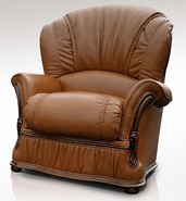 Bologna Armchair Genuine Italian Tan Leather Offer