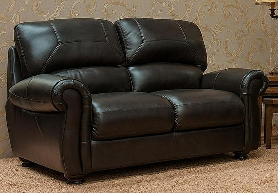 Cambridge 2 Seater Leather Sofa Suite Available In Chestnut Or Dark Brown