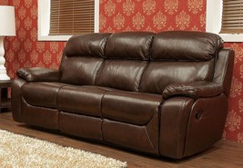 Carson 3 Seater Reclining Leather Sofa Brandy, Tabak Or Wine