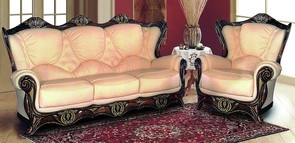 Catania 3+1+1 Italian Leather Sofa Suite Cream