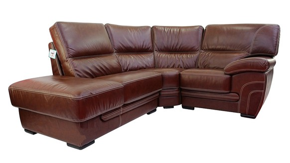 Cerise 1 + Corner + 1 Genuine Italian Tabak Brown Leather Corner Sofa Group Suite Offer