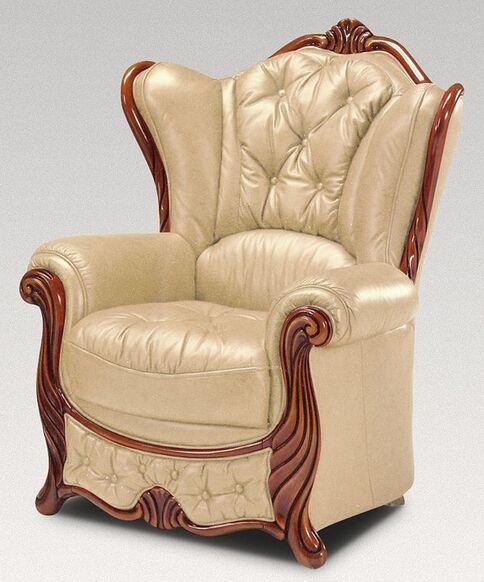 Christina Armchair Genuine Italian Leather Nut Sofa Settee ...