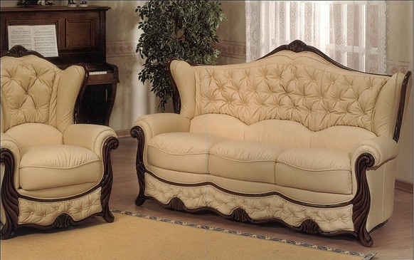 Idaho Genuine Italian Leather Sofa Settee Offer