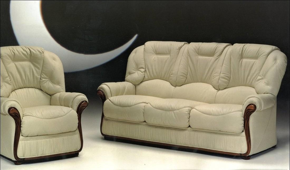 Debora Genuine Italian Leather Sofa Suite Offer