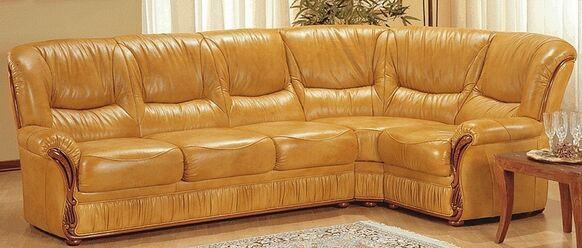 Elena Corner Group Genuine Italian Leather Sofa Suite Offer