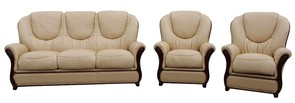 Juliet 3+1+1 Genuine Italian Nut Leather Sofa Suite Offer