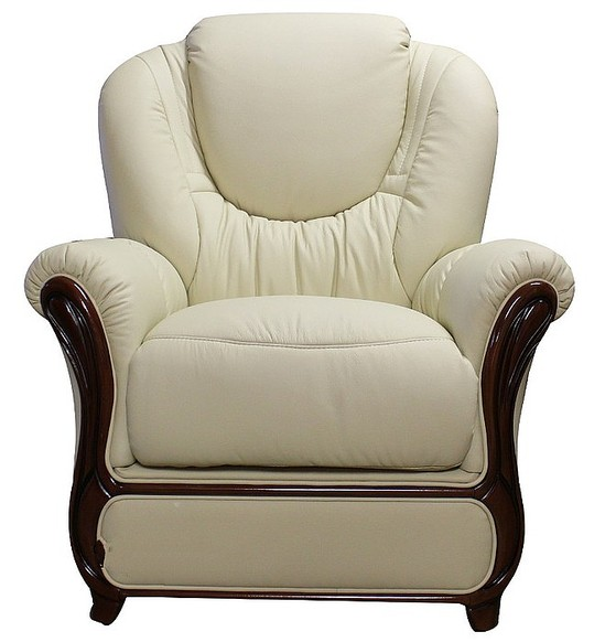 Juliet Genuine Italian Sofa Armchair Cream Leather