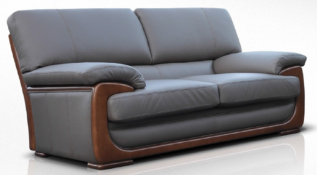 New York 2 Seater Sofa Seater Genuine Italian Brown Chocolate Leather Offer