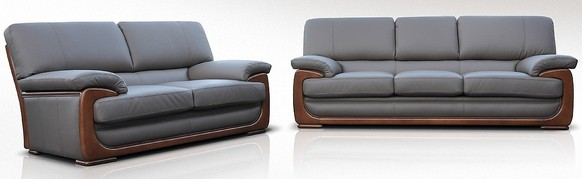 New York 3 Seater + 2 Seater Genuine Italian Brown Chocolate Leather Sofa Suite Offer