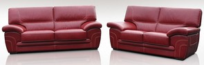 Naples 3 Seater + 2 Seater Genuine Italian Red Leather Sofa Suite Offer