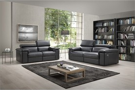 Niccolino Genuine Italian Contemporary Sofa With Power Recliner