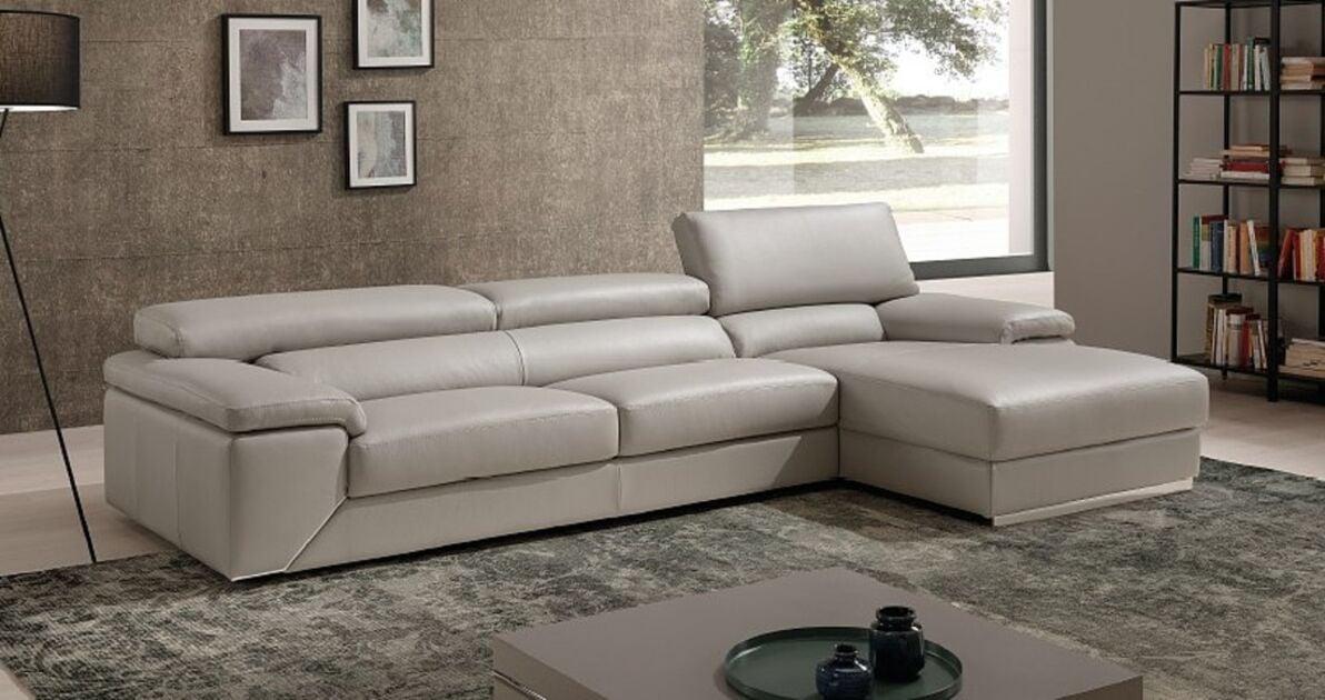 Nirvana Genuine Italian Contemporary Corner Sofa With Chaise
