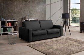 Post Genuine Italian Leather Contemporary Sofabed