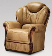 Turin Armchair Genuine Italian Nut Leather Sofa Offer