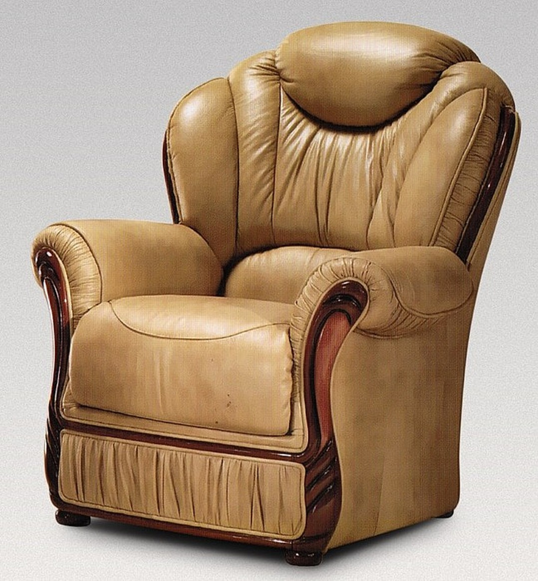 Hawaii Armchair Genuine Italian Nut Leather Sofa Offer