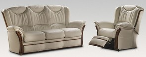 Verona 3+1 Electric Reclining Genuine Italian Cream Leather Sofa Suite Offer