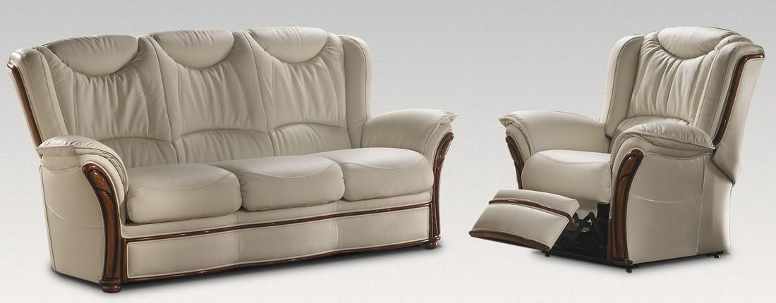 Verona 3 1 Electric Reclining Genuine Italian Cream Leather Sofa Suite Offer