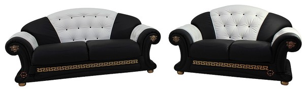 Versace 3 Seater 2 Seater Genuine Italian Black White