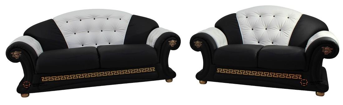 Versace 3 Seater 2 Seater Genuine Italian Black White