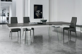 Crystal Plus 200 cm Extendable Dining Table Graphite Stoneware Top
